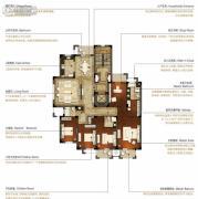 洛城中央御景4室2厅3卫232平方米户型图