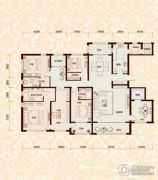 怡水公馆4室3厅3卫215平方米户型图