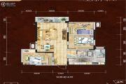 四川煤田光华之心3室2厅1卫89平方米户型图