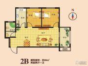 瑞隆城三期麒麟山2室2厅1卫84平方米户型图