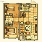 银亿格兰郡2室2厅1卫85平方米户型图