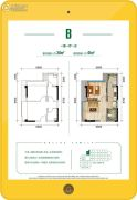 景瑞西联社1室1厅1卫0平方米户型图