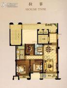 华瑞府3室2厅1卫89平方米户型图