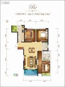 龙记玖玺3室2厅2卫111平方米户型图