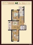 明光翡翠湾2室2厅1卫60--70平方米户型图
