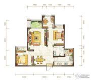 金隅时代都汇2室2厅1卫64平方米户型图