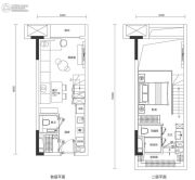 广州国际空港中心0室0厅0卫41平方米户型图
