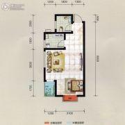万华汽车城1室1厅1卫41平方米户型图