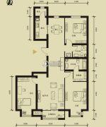 九星国际e世界3室2厅2卫156平方米户型图