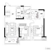 中天铭廷2室2厅1卫95平方米户型图