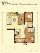 曲江千林郡3室2厅2卫124平方米户型图