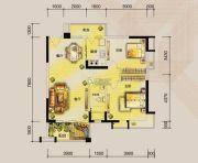 东湖天下2室2厅1卫92平方米户型图