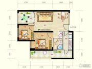 蓝光天娇城2室2厅1卫57平方米户型图