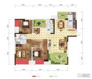 世茂茂悦府3室2厅2卫103平方米户型图