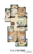 君悦豪庭3室2厅2卫0平方米户型图