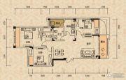 北麓国际城3室2厅2卫88平方米户型图
