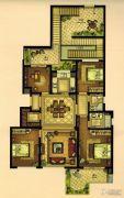万科・珑庭4室2厅2卫130平方米户型图