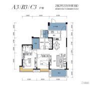 鑫盛滨江国际2室2厅2卫108--123平方米户型图