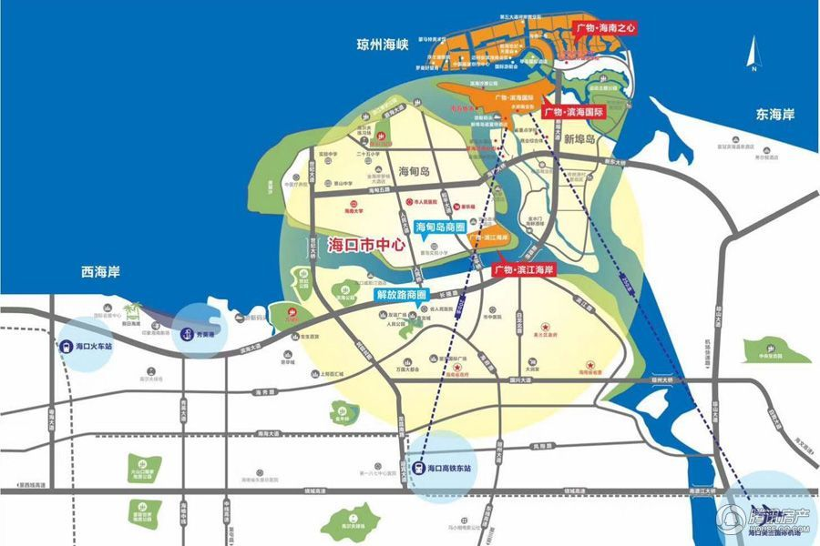 广物滨江海岸区位图