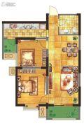 紫郡华宸2室1厅1卫85平方米户型图