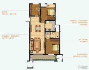 九洲花园缇香郡3室2厅1卫116平方米户型图