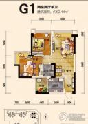 恒邦・时代青江二期2室2厅1卫62平方米户型图
