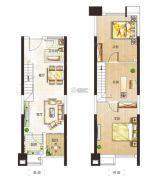 金水湾2室2厅1卫41平方米户型图