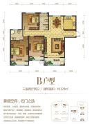 建业春天里3室2厅2卫129平方米户型图