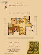 星河丹堤花园4室2厅2卫109平方米户型图