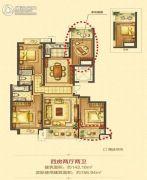 平阳万达广场4室2厅2卫143平方米户型图