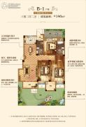 汇悦天地3室2厅2卫146平方米户型图