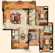 充耀盛荟3室2厅2卫141--144平方米户型图