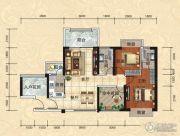 天湖御林湾2室2厅2卫101平方米户型图