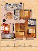 乐天峰公馆3室2厅2卫133平方米户型图