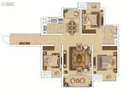 枫林天下・康城3室2厅1卫104平方米户型图