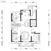 万科圣丰・翡翠之光3室2厅2卫137平方米户型图