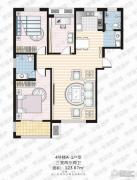 家合园二期3室2厅2卫123平方米户型图