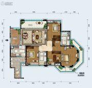 中德英伦联邦4室2厅2卫140平方米户型图