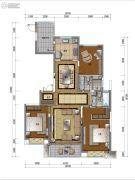 万科公园里3室2厅2卫143平方米户型图