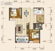 东星・熙城2室2厅1卫94--95平方米户型图