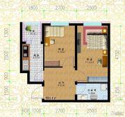 黎明荣府2室1厅1卫34平方米户型图