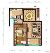 阳光城市・晶海园1室2厅1卫71平方米户型图