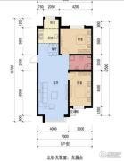 双安金都2室1厅1卫110平方米户型图