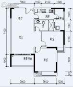 福星城3室2厅1卫113平方米户型图
