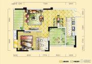 远达天际上城1室2厅1卫81平方米户型图