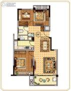 世纪凤凰城3室2厅1卫95平方米户型图