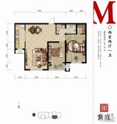 燕都紫庭2室2厅1卫101平方米户型图
