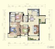 望龙轩3室2厅2卫0平方米户型图