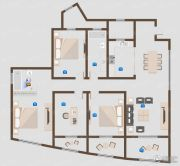 威尼斯水城4室2厅2卫0平方米户型图