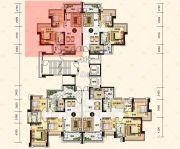 中澳滨河湾2室2厅1卫80平方米户型图